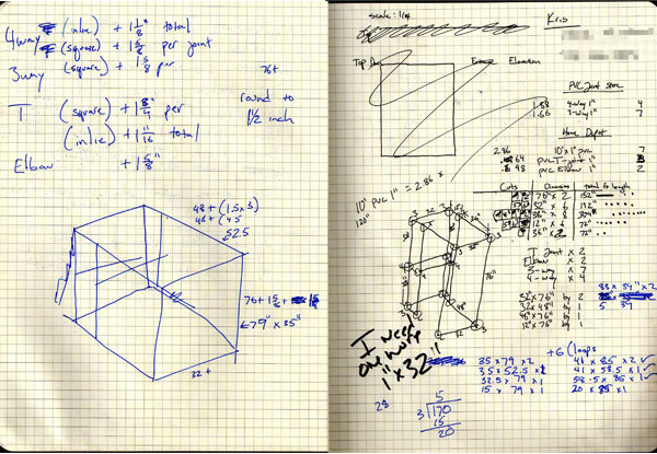 image of math drawn in a notebook