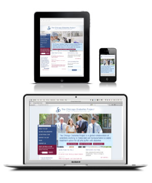 image of a Responsive Design being shown and a tablet, smart phone and desktop display