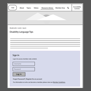 Image showing an example of a wireframe
