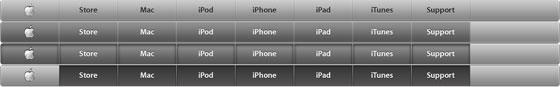 screenshot of apple css sprite