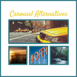 graphic for alternative to web carousel graphic