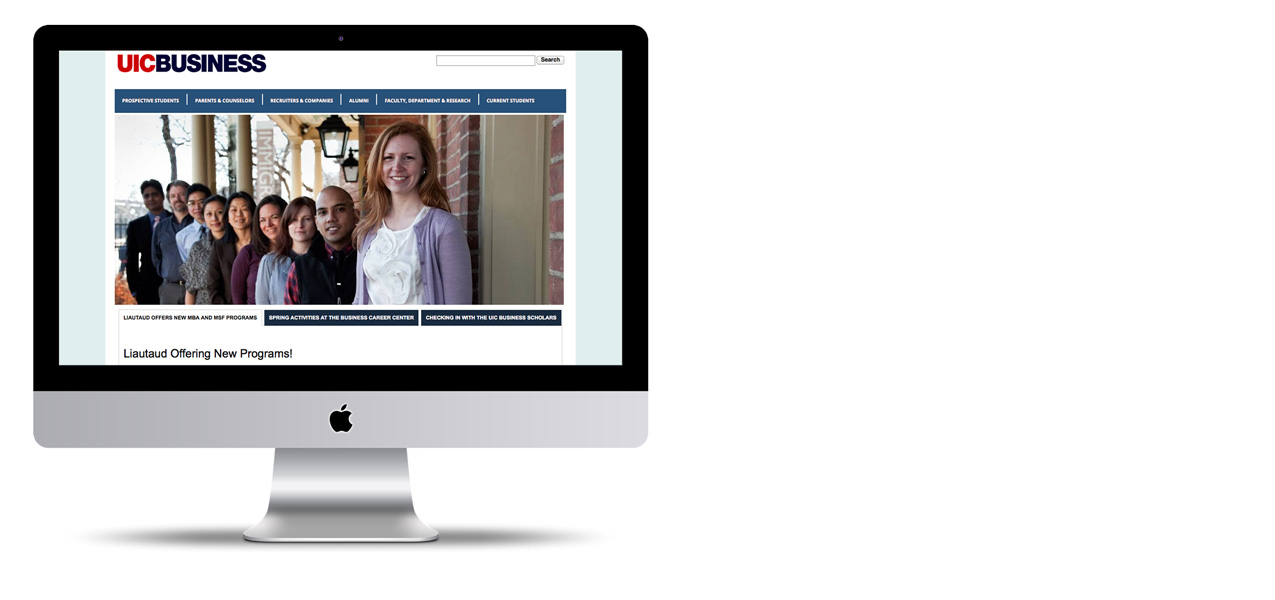 UIC College of Business Administration Website