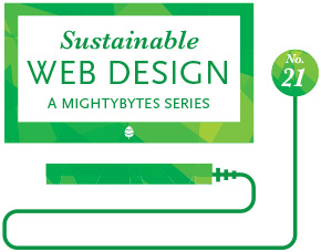 sustainable web design series graphic