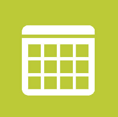 calendar icon on green background