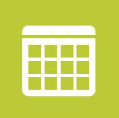 calendar icon on green background