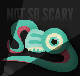 not so scary SEO monster graphic