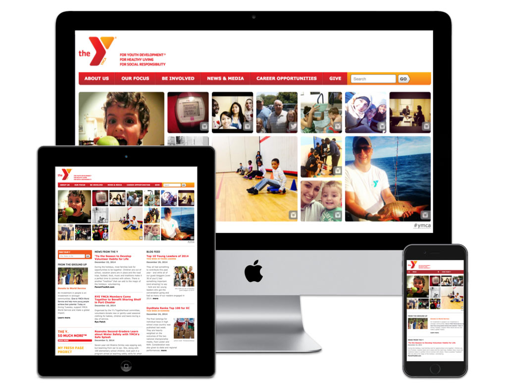The mobile-friendly YMCA website