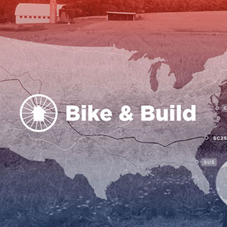 bike and build logo on map