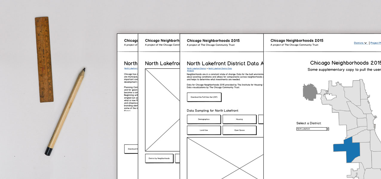 High-fidelity wireframe examples