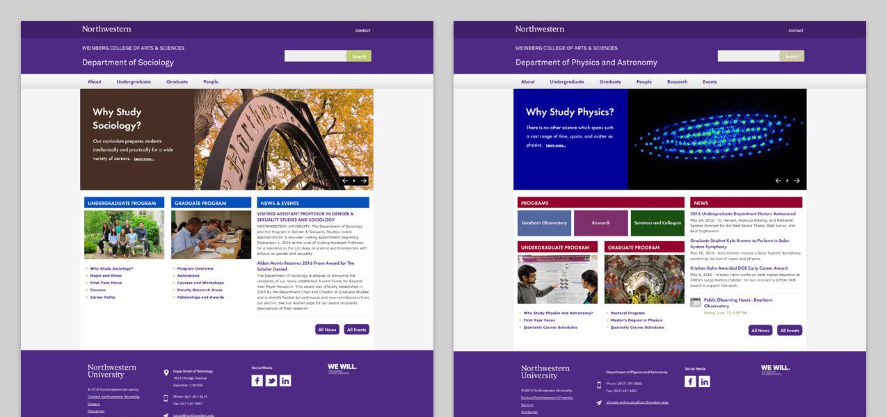 Northwestern University Websites