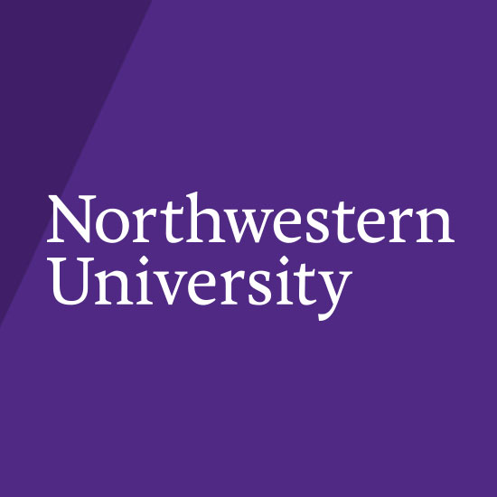 Northwestern University logo on Purple background