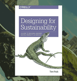 Designing for Sustainability book cover aside graphic of the juxtaposition concerning nature and technology