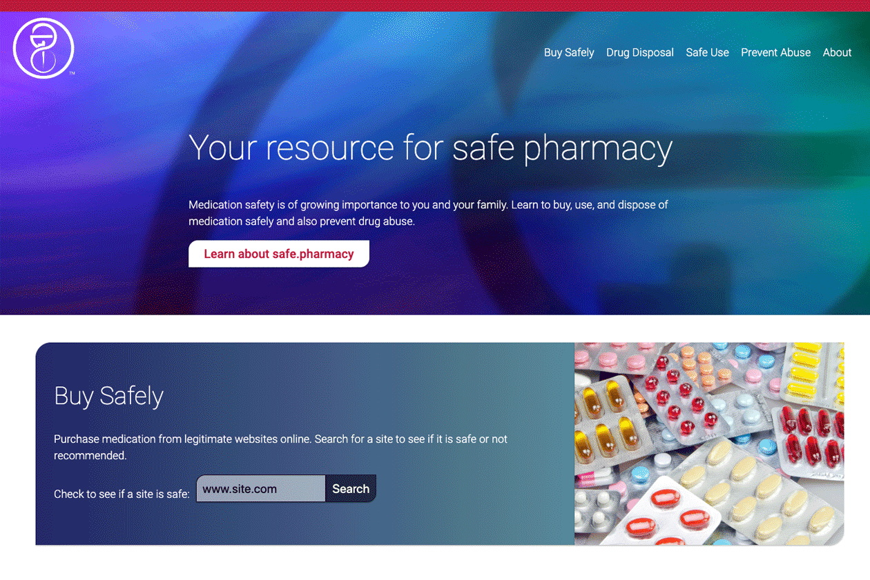 Safe.Pharmacy homepage