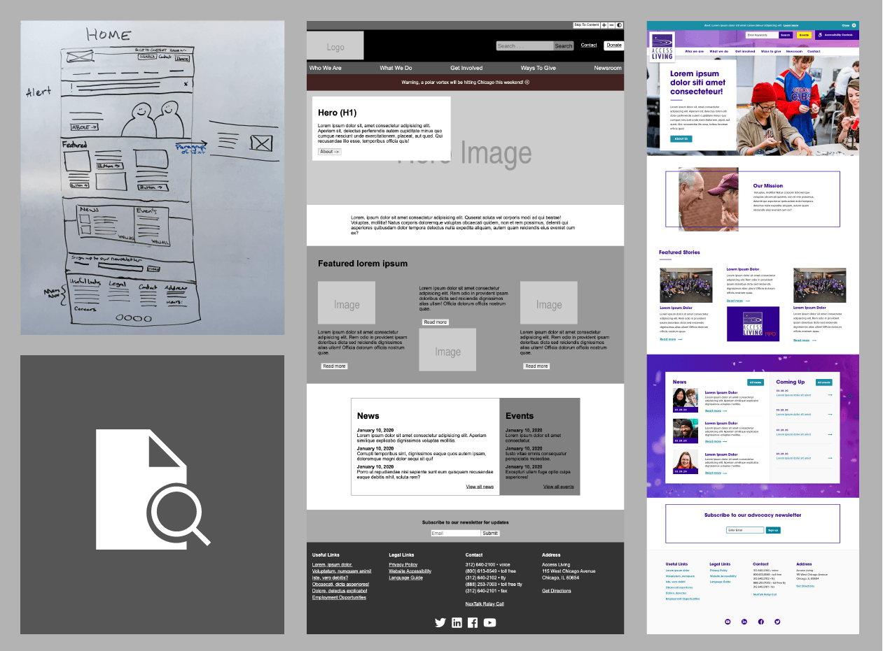 Access Living Homepage Design Process