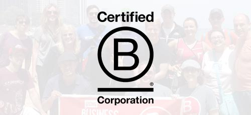 B Corporation logo on background image