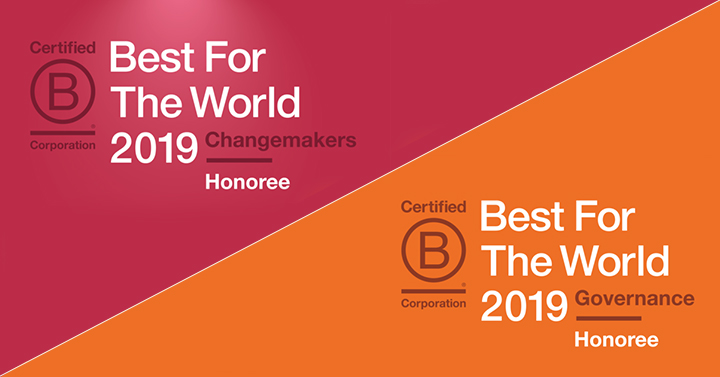 B Lab's Best for the World 2019 list honors the top 10% of all B Corps