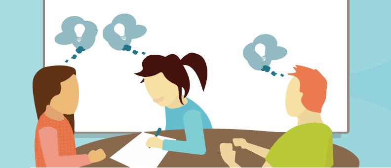 Digital marketing brainstorming session