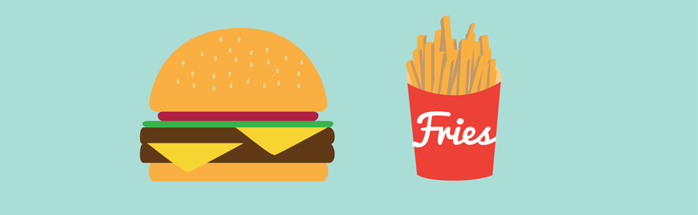 burger and fries is a metaphor for fast websites