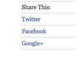 Screenshot of A List Apart social share links
