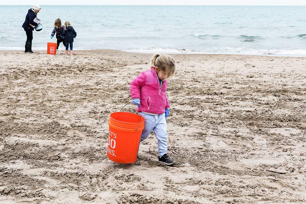 An Adopt a Beach cleanup