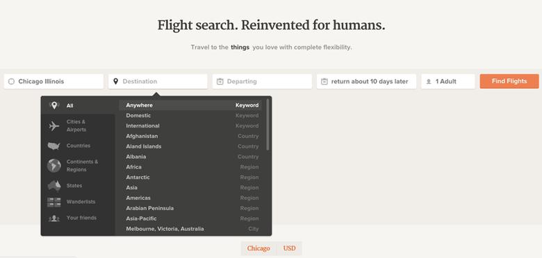 screenshot of a website showing adioso.com's simple form design to solve a complex idea