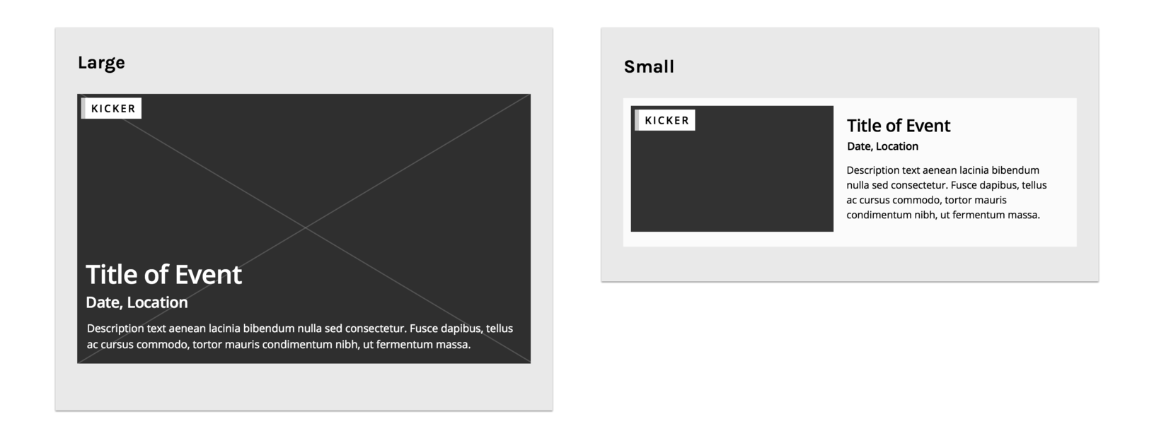 Content pattern examples in the component-based design process.