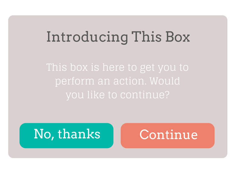 screenshot of wireframe for continue button