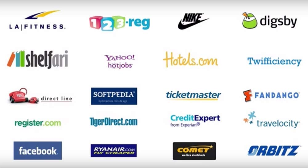 Logos of Brands that use dark patterns