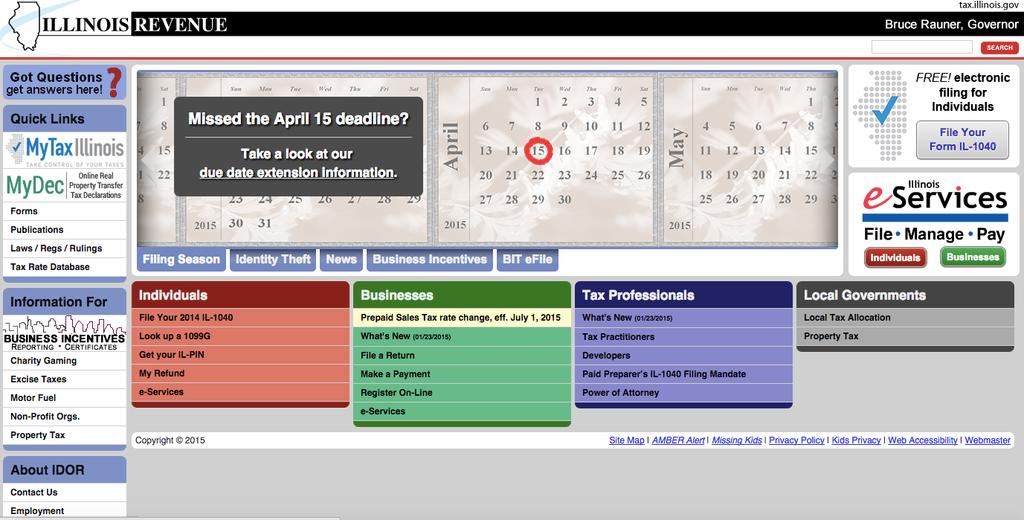 illinois department of revenue website
