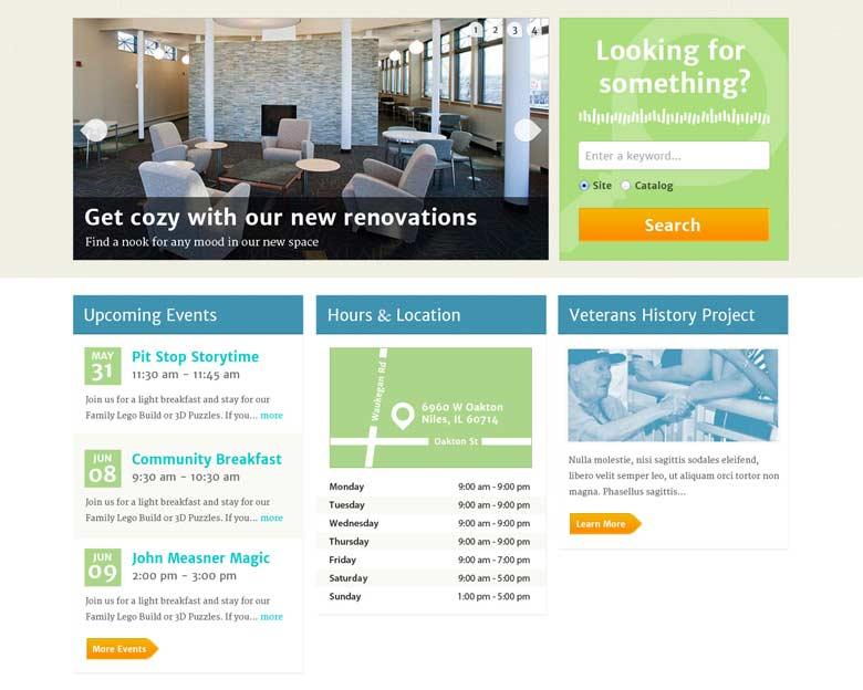 Image of a design comp mocked up of a website