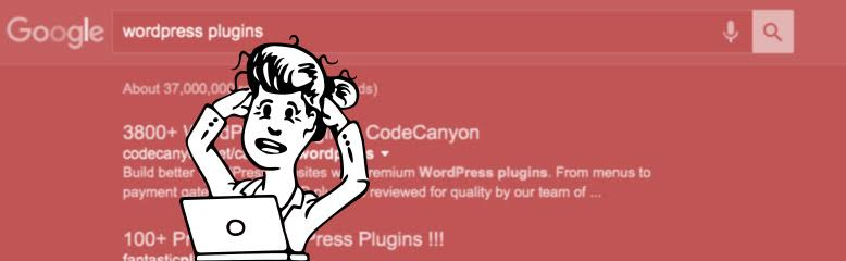 A woman tearing her hair out picking a wordpress plugin