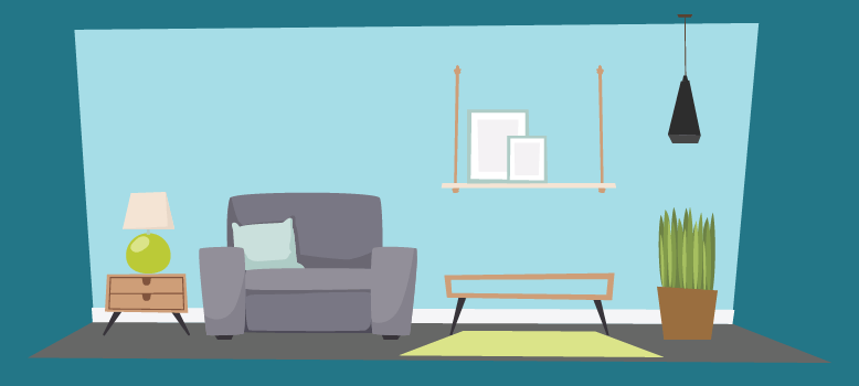 completely redesigned room