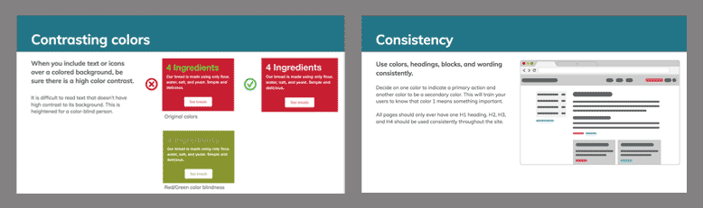 Content guidelines used during training sessions for clients migrating to Gutenberg