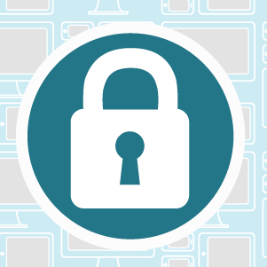 data privacy illustration of a padlock