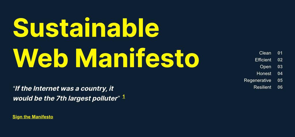 Sustainable Web Manifesto image