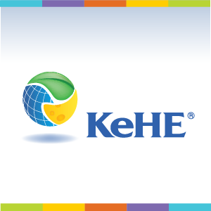 KeHE logo on white background with color blocks