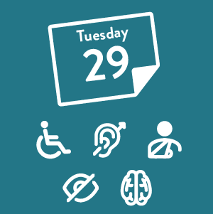 featured blog image showing calendar and five accessibility icons