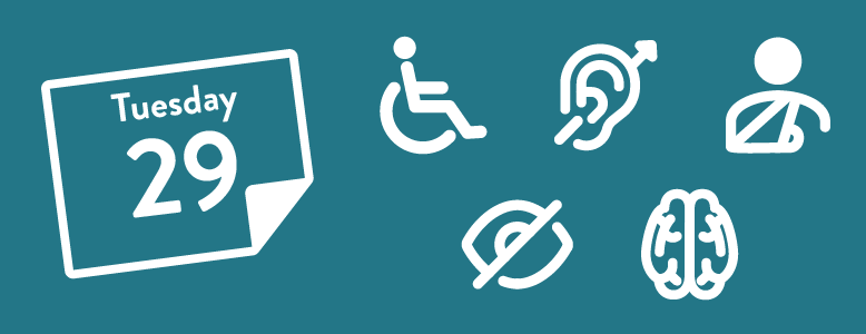 Calendar and accessibility icons